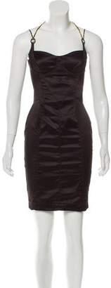 Just Cavalli Halter Mini A-Line Dress