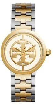 Tory Burch The Reva Goldtone Stainless Steel Link Bracelet Watch