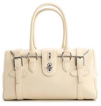 Ralph Lauren Leather Turn Lock Satchel