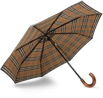 Burberry Maple Wood-Handle Telescopic Umbrella