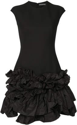 Alexander McQueen ruffle trim dress