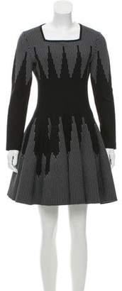 Alaia Long Sleeve Fit & Flare Dress