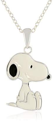 Peanuts Girls' Snoopy -Plated Pendant Necklace