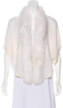 Magaschoni Cashmere Fur-Trimmed Cardigan