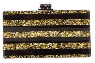 Edie Parker Glitter Acrylic Clutch Gold Glitter Acrylic Clutch