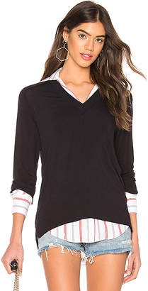 Bailey 44 Trompe L'oeil Sweater Knit Top