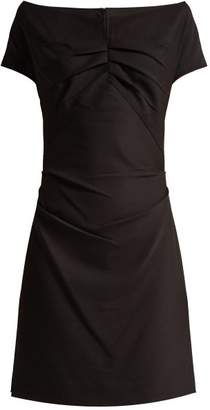 Helmut Lang Off The Shoulder Crepe Dress - Womens - Black