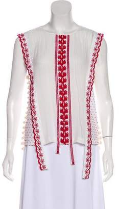 Altuzarra Embroidered Sleeveless Top w/ Tags