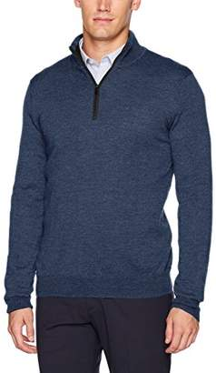 Calvin Klein Men's Merino 1/4 Zip Sweater