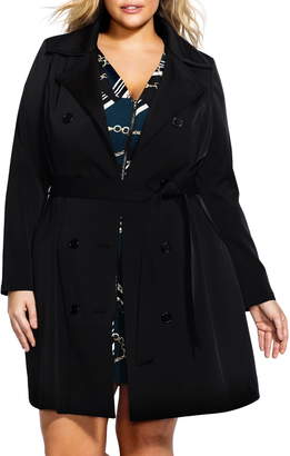 City Chic Lace-Up Trench Coat