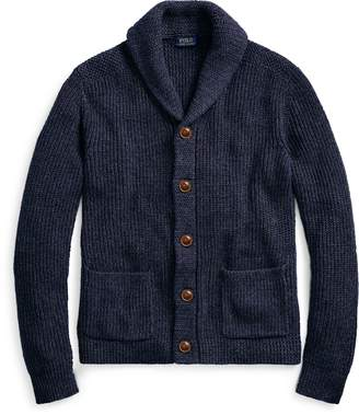 Ralph Lauren Cotton-Linen Shawl Cardigan
