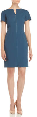 Lafayette 148 New York Deja Short Sleeve Zip Sheath Dress