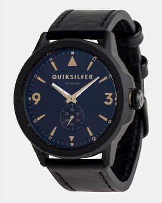 Quiksilver Mens Kombat 43mm Leather Watch