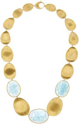 Marco Bicego Lunaria 18K Yellow Gold Aquamarine Necklace