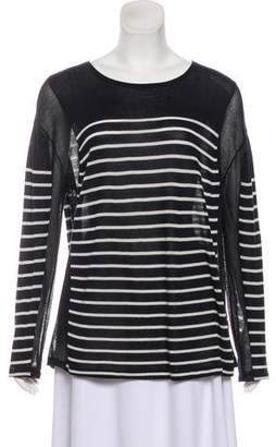 Alexander Wang Long Sleeve Crew-Neck Sweater