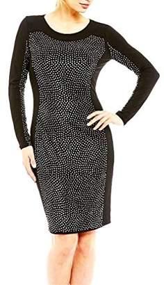 Calvin Klein Women's Long Sleeve Beaded Cocktail Dress
