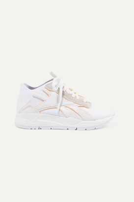 Reebok x Victoria Beckham Bolton Stretch-knit, Leather And Suede Sneakers - White