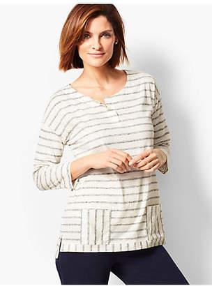 Talbots Striped Front Pocket Pullover