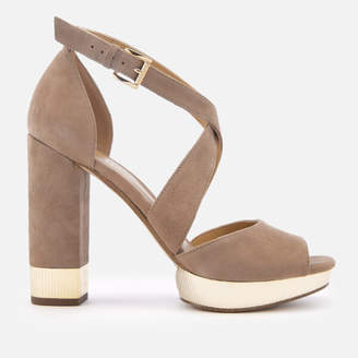 3cd59daccf6 MICHAEL Michael Kors Women s Valerie Platform Heeled Sandals - Dark Khaki