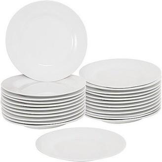 "Ten Strawberry Street 10 Strawberry Street 7.5"" Round Dessert Plates, Set of 24, White"