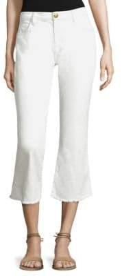 Current/Elliott Cropped Flip Flop Frayed Hem Jeans