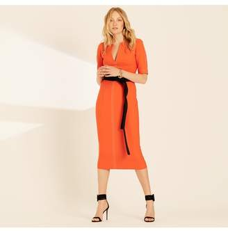 Amanda Wakeley Fitted Shift Dress In Clementine
