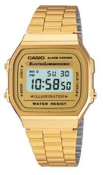 Casio Vintage Foldover-Clasp Chronograph