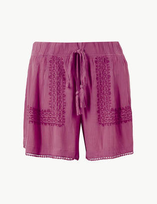 Marks and Spencer Embroidered Casual Shorts