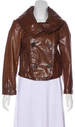 Donna Karan Double-Breasted Leather Jacket