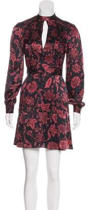Lover Silk Floral Print Dress