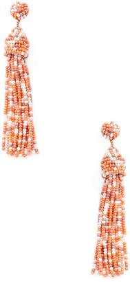 Deepa Gurnani Beaded Drop Tassel Statement Earrings
