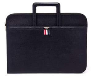 Thom Browne Pebble Grain Leather Handle Portfolio