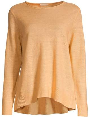 Eileen Fisher Roundneck Organic Linen Tunic Top