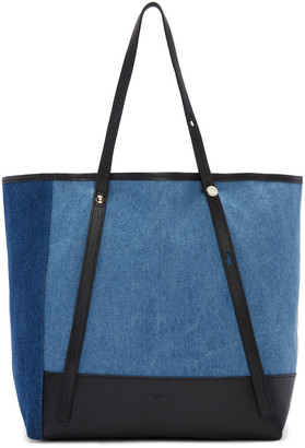 See by Chloé Blue Denim Patchwork Andy Tote $280 thestylecure.com