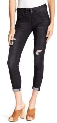YMI Jeanswear Outerwear WannaBettaButt 2-Button Mid-Rise Ankle Crosshatch Jeans