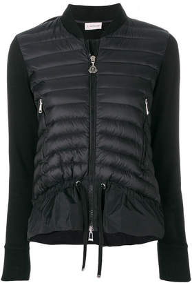 Moncler frill-trim padded jacket