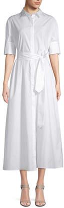 story. White Midi Shirt Dress