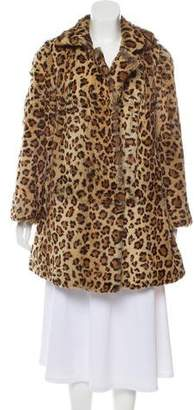 Co Printed Fur Coat