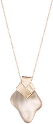 Alexis Bittar Folded Knot Pendant Necklace