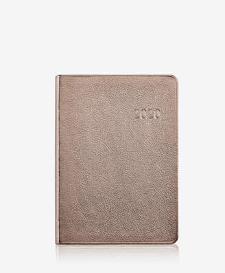 GiGi New York 2019 Notebook, Rose Gold Metallics Leather