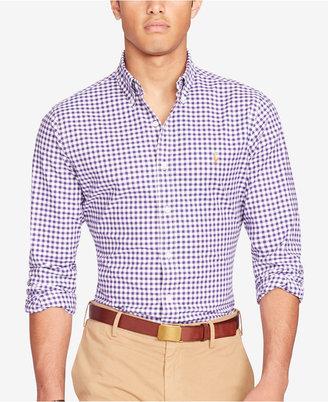 Polo Ralph Lauren Men's Long-Sleeve Slim-Fit Stretch-Oxford Shirt $98.50 thestylecure.com