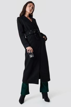 555d4f6d6852b ... Di Lara Dilara X Na Kd Eyelet Belted Trenchcoat Black