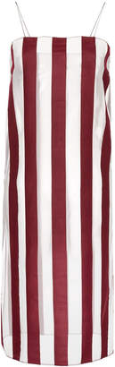 G.V.G.V. sheer organza striped dress