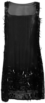 Jean Paul Gaultier Pre-Owned sheer sequinned shift dress