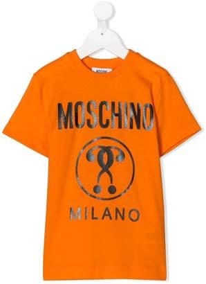 Moschino Kids TEEN printed logo T-shirt