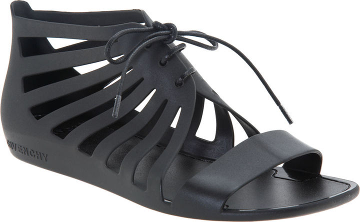 Givenchy Jelly Caged Sandal - Black