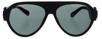 Versace Medusa-Embellished Tinted Sunglasses