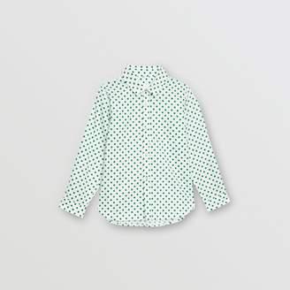 Burberry Polka Dot Cotton Oxford Shirt