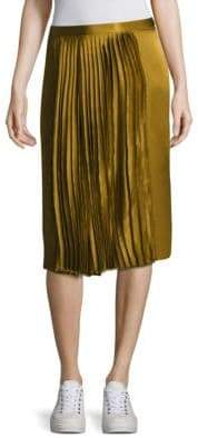 Public School Gamil Silk Pleated Skirt