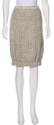 Chanel Tweed Knee-Length Skirt Tan Tweed Knee-Length Skirt